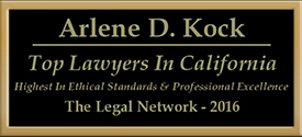 Legal Network 2016 Arlene D. Kock