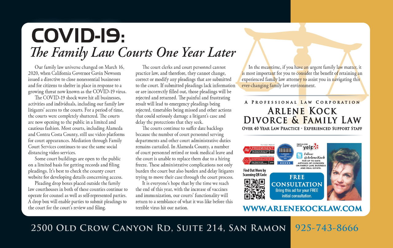 COVID-19: The Family Law Courts One Year Later